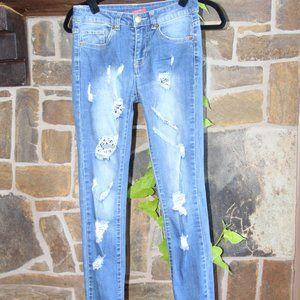 Chelsea & Violette Distressed Jeans Skinny Leg